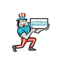 Vote democrat donkey mascot cartoon vector
