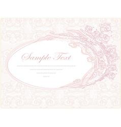 wedding invitation floral frame vector image