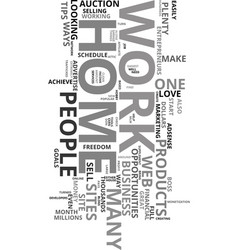 Would you love to work from home text word cloud vector