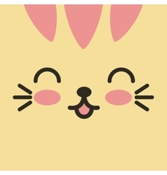 Face expression kawaii isolated vector