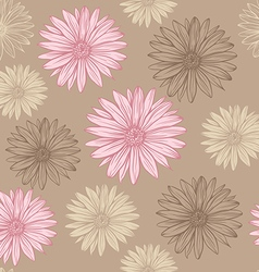 Seamless pattern in pastel colors flowers vector