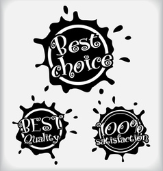 Shopping labels vector