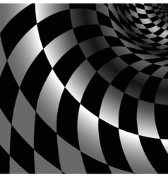 Checkered abstract background with perspective vector