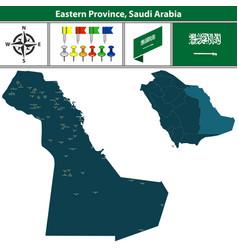 Map of eastern province saudi arabia vector