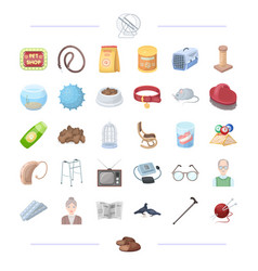 animal veterinarian cleaning and other web icon vector image