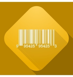Icon of barcode sign with a long shadow vector