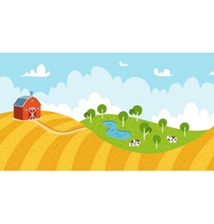 Seamless rural landscape vector