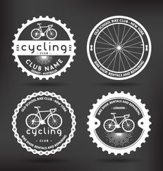 Cycling badges vector
