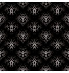 Floral gothic black vector