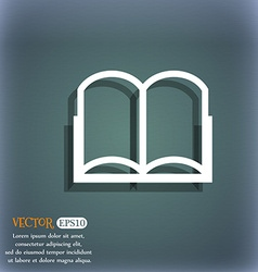 Book sign icon open book symbol on the blue-green vector