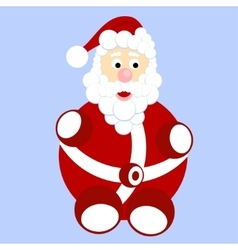 Funny cartoon santa claus with bag with gifts vector