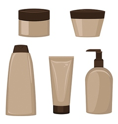 Set of cosmetic containers vector