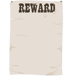 Reward poster vector