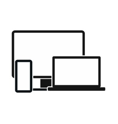 Computer monitorlaptop and phone icon vector