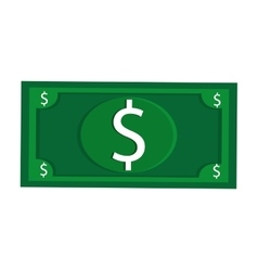dollar bill usd money business vector image