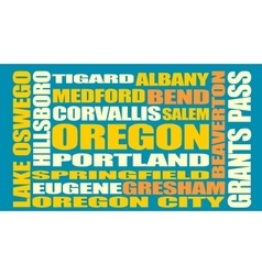 Oregon state cities list vector