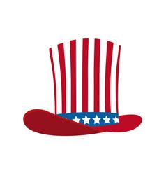 American top hat celebration ornament vector