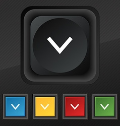 Arrow down download load backup icon symbol set of vector