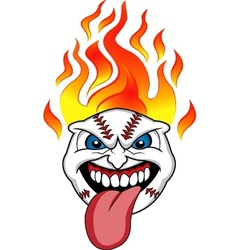 Baseball fire vector