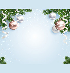 blank christmas background for congratulations vector image vector image