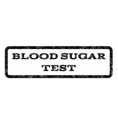 Blood sugar test watermark stamp vector