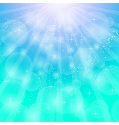 Blue bright background with rays vector image vector image