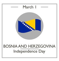 Bosnia and herzegovina independence day vector