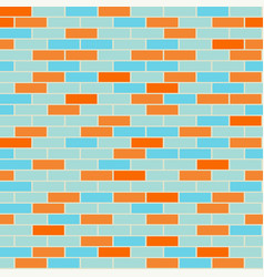 cartoon seamless coloful flat brick wall texture vector image vector image