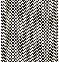 Checkered black and white background vector image vector image