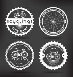 Cycling badges vector