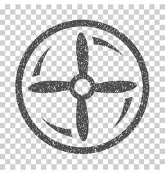 Drone screw rotation grainy texture icon vector