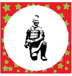 famous terracotta warriors of xian china black vector image vector image