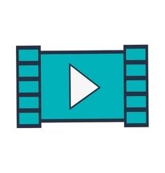 film strip play video icon vector image vector image