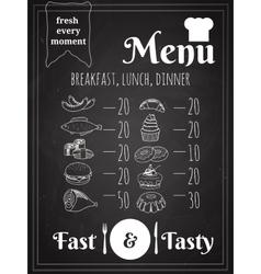 Food menu poster design vector