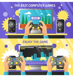Game gadget horizontal banners vector