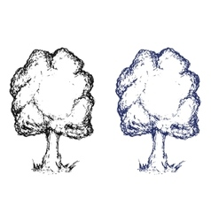 Hand drawn sketch tree Ink vector image