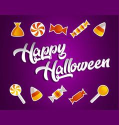 Happy halloween greeting card vector
