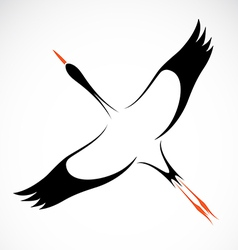 image of an stork vector image vector image