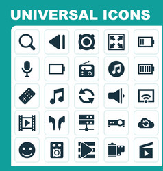 Media icons set collection of cloud signal vector