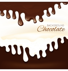 Milk chocolate splash vector image vector image