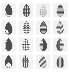 monochrome icon set with drop vector image vector image