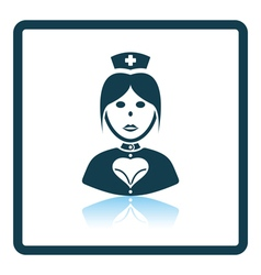 Nurse costume icon vector image