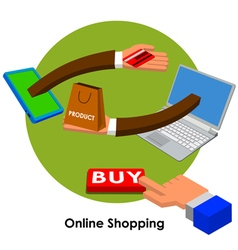 online shopping3 vector image