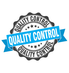 Quality control stamp sign seal vector