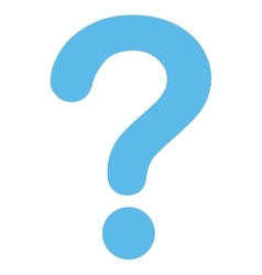 Question flat blue color icon vector