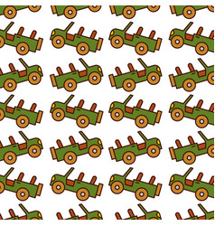 safari jeep pattern background vector image vector image