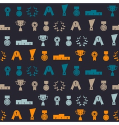 seamless background with awards vector image