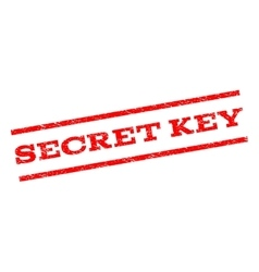 Secret key watermark stamp vector