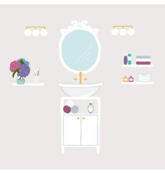 Set of bathroom and personal hygiene icons vector