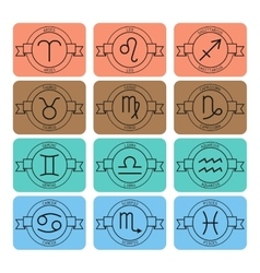 Signs of the zodiac for horoscope and predictions vector